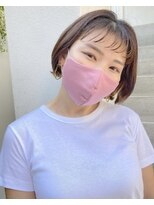 カサネ(casane)【CASANE下北沢】ミニボブ×ニュアンスパーマ