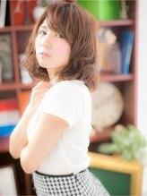 カバーヘア ブリス 戸田公園店(COVER HAIR bliss)*+COVER HAIR+*…ミディアム☆フェミニンa