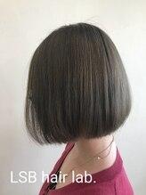 エルエスビー(LSB hair lab)【LSB】color 切りっぱなしボブ×ダークブルージュ