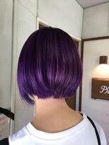 ヘアーメイク プリュム(Hair make Plume)ビビットなバイオレット!!