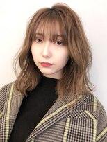 アルバム シンジュク(ALBUM SHINJUKU)カジュアルウェーブ_ハイライトカラーオリーブカラー_96932