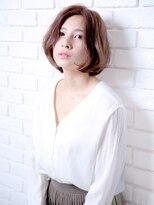 バッテリー ヘアアンドメイク 塚口店(Battery hair&make)ふんわりセクシーボブ