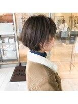 ヘアメイク シュシュ(Hair make chou chou) 大人ショートアッシュブラウンネオウルフ30代40代