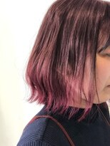 【切りっぱなし】【グラデーションカラー】【ピンク】