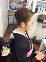 hair arrange お着物 夜会巻き