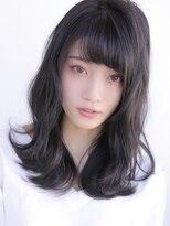 《Agu hair》重め前髪×ゆるカール
