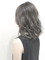 フレイムスヘアデザイン(FRAMES hair design)セミディ×スカイグレージュカラー