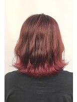 ヘアーアイスカルテット(HAIR ICI QUARTET)秋冬オススメ チェリーピンク ワインレッド 裾カラー