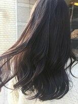 黒髪モーヴブラウン