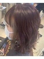 リリー ヘアーデザイン(Lilly hair design)ワインレッド×シルバー