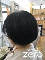 ヘアーメイクゼロ 坂戸駅前店(hairmake zero)丸みボブ 艶グレイ
