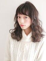 ヘアー ピープル(Hair People)モテ髪☆無造作デジタルパーマ!シースルーバング黒髪耳かけ◎