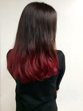 Tsumiki 赤系グラデーションカラー L003766937 ヘアーサロン ツミキ