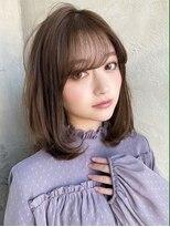 アフロート ワールド 渋谷(AFLOAT WORLD)渋谷アフロート 張替 ミディアムボブ 女性らしいカーブ感