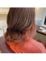 ヘアメイク スコア(Hair Make S CORE)サーモンピンク インナーカラー