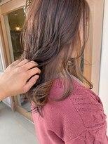 マイ ヘア デザイン(MY hair design)ナチュラルベージュチラ見えカラー