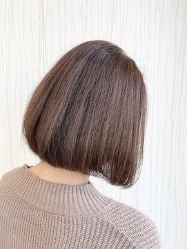ビス ヘア アンド ビューティー 西新井店(Vis Hair&Beauty)10代20代前下がりボブ×ピンクブラウン/ラベンダーピンク/小顔
