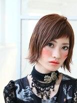 ショコラ アベノ(Chocolat ABENO)ワイドバンク☆ネイビーブラック☆ドライウェットショート