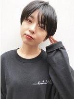 【吉田有花】黒髪ベリーショート