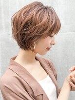 ★ ショートパーマ 薄めバング前髪 くすみカラー 暖色カラー