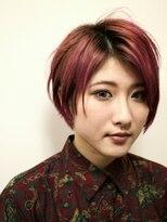 デコヘアー(DECO HAIR)赤髪のシャンクス風ショートボブ