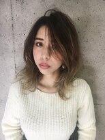 カイノ 三宮店(KAINO)ミディアムレイヤー×グラデーションカラー