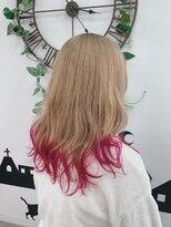 ヘアーサロン エール 原宿(hair salon ailes)(ailes 原宿)style450 ベージュルビーピンク☆くびれセミディ