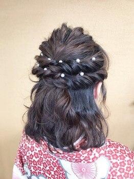 プリマヴェーラ 神楽坂の写真/結婚式、記念日、パーティー。特別な日は周囲に差がつくお洒落なヘアアレンジでお出かけしませんか?