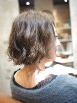 ノエル ヘアー アトリエ(Noele hair atelier)あごラインのショートボブ×波パーマ