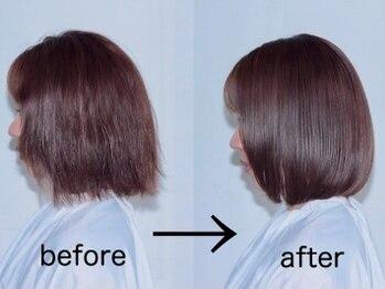 チェリーコークガーデン(CHERRYCOKEGARDEN)の写真/【ボリューム感&手触り改善!!】2typeの縮毛矯正で状態別に最善のアプローチ♪前髪のみの施術もオススメ◎