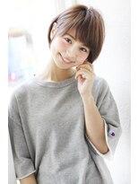 アンアミ オモテサンドウ(Un ami omotesando)【Un ami】《増永剛大》黒髪でも可愛い、ふんわりショートボブ