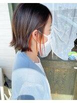 ヘアーガーデン シュシュ(hair garden chou chou)韓国風アプリコットオレンジ