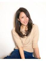 ムード 金沢文庫 hairdesign&clinic mu;d毛先ワンカール暗髪ロング