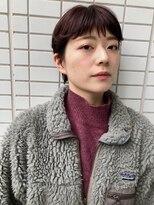 ファースト 仙台店(first)【松根ショートボブ】マニッシュショート×ピンクブランジュ