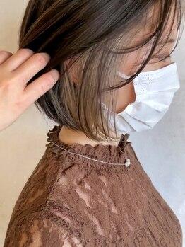 ベルビアンカ(Belle BIANCA)の写真/【栄/久屋大通2分★8時-24時】大人かわいいデザインカラー♪隠せる!バレない!ちらっとかわいい◎