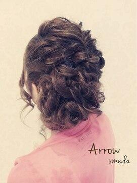 結婚式の髪型 ヘアアレンジ ツイスト編みアップSTYLE