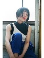 マウロア(MAULOA)【Mauloa】小顔ヘア 前下がりボブ グラデーションカット 黒髪