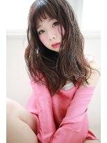 【La fith】ピンクレッド×セミロングスタイル