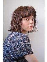 シアン ヘア デザイン(cyan hair design)【cyan hair design】ルーズカールボブ