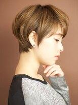 ベックヘアサロン 広尾店(BEKKU hair salon)ワイドバングで大人可愛い☆モーブカラーショート☆