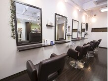 ヘアーブランド ドクタープラス(hair brand Dr'+ DOCTOR PLUS)の雰囲気(店内はシンプルにダークブラウンで統一されています。)