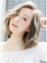 シェリー(sherry)透明感☆柔らかミディアムボブ☆アッシュベージュ中間隆宏7