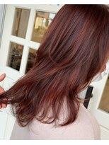ヘアアンドメイクグラチア(HAIR and MAKE GRATIAE)【10トーン】暖色系カラー☆ガーネットレッド♪