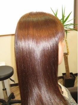 ジェンティーレ ヘアデザイン(Gentile Hair Design)の写真/【Gentilie】の代表MENUは、髪や頭皮・地球にも優しい!高濃度ミネラル100%の『ハイブリッドKIRARA☆』