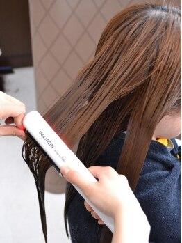 ヘアークリエイト ミリ(hair create mm)の写真/ケアメニュー豊富☆超音波アイロンで内部までトリートメント成分を浸透させ、芯から潤うツヤ髪に導きます!