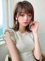 【ラルユー松宮】ラベージュ韓国シースルーバング髪質改善カット