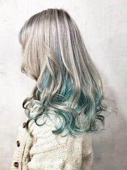 イニヘアデザインワークス(inni hair design works)の写真/≪inniカラー圧倒的支持率!≫オシャレに敏感なコが集う!!外国人風カラーや個性美カラーならinniでキマリ☆