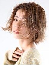 アース 勝田台店(HAIR&MAKE EARTH)うるつや質感の大人アップバングボブ