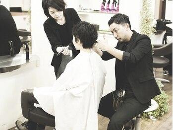 スギヘアデザイン(SUGI HAIR DESIGN)の写真/平成29年 岡山県美容技術コンクール/カット部門優勝。ミリ単位でこだわる高技術カットをご体感ください♪