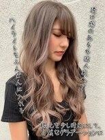 フィーネ 池袋(Fi-Ne)透け感のある外国人風hair #原宿 #ミルクティーベージュ
